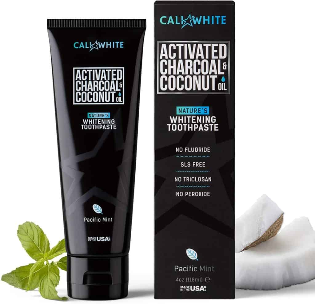 Cali White Activated Charcoal & Coconut Oil Teeth Whitening Toothpaste