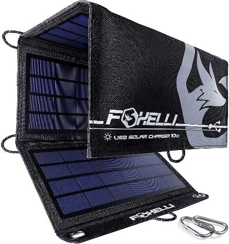 Foxelli Dual USB Solar Charger