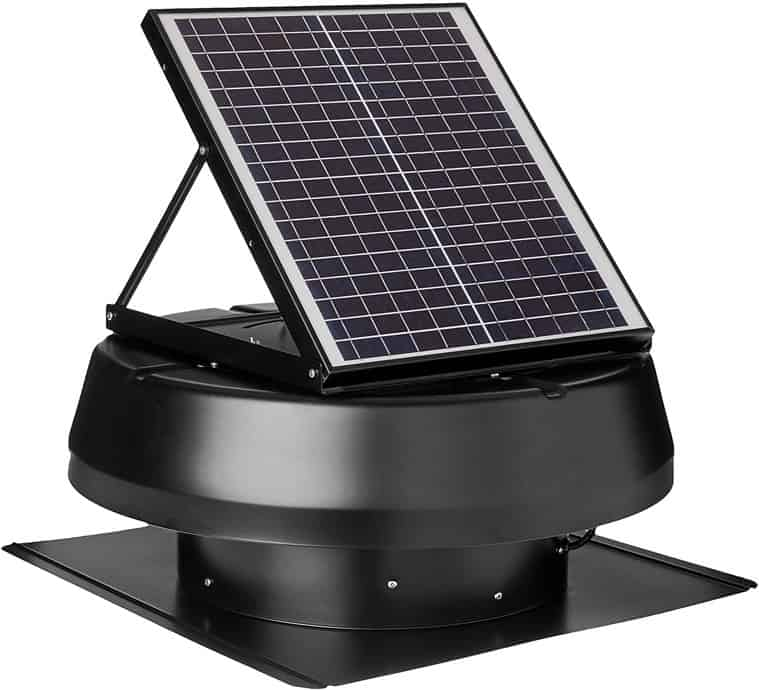 Iliving Hybrid Solar Roof Attic Exhaust Fan