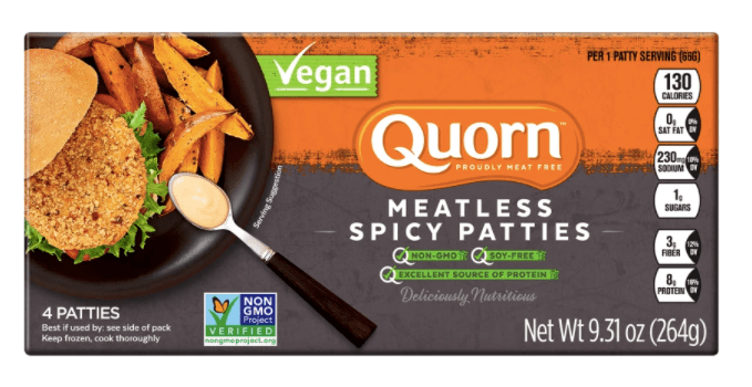 Quorn Meatless Vegan Spicy Patties