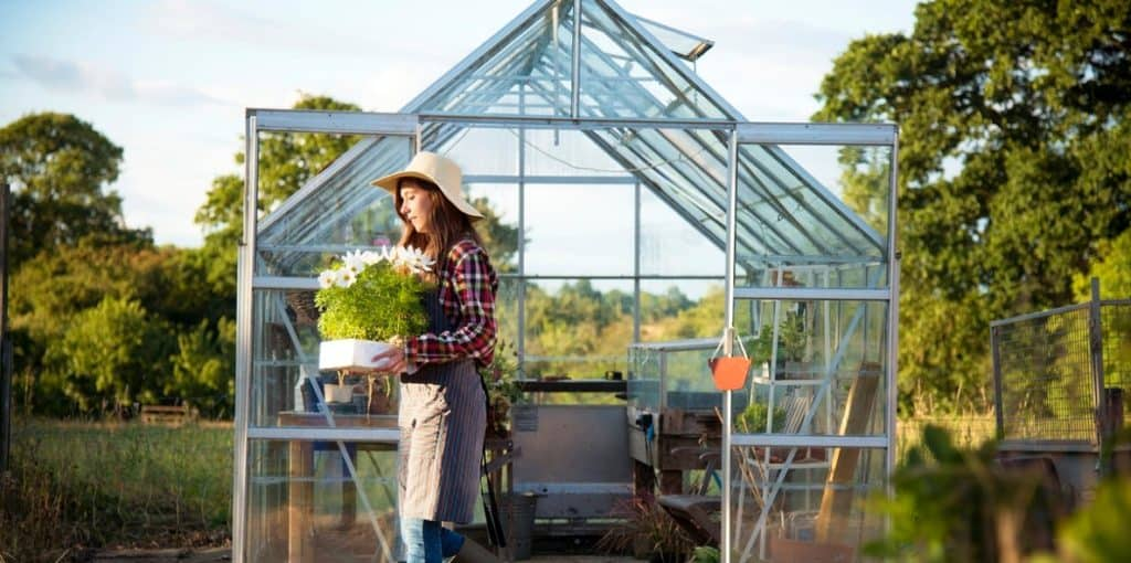 A Women with Greenhouse