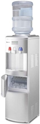 COSTWAY Water Cooler Dispenser with Built-In Ice Maker