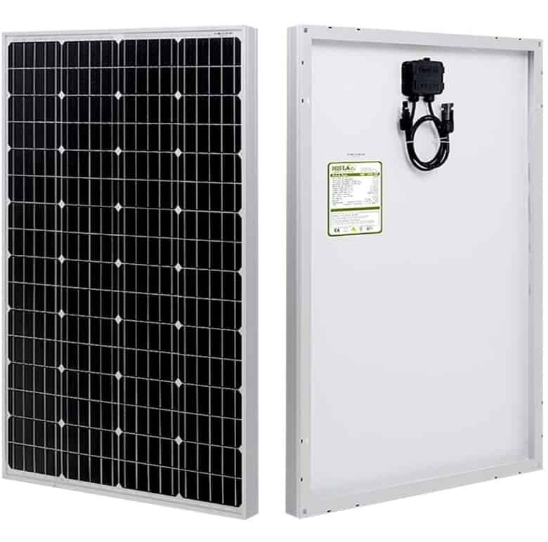 HQST 100 Watt 12 Volt Solar Panel