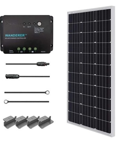 Renogy 100 Watt 12-Volt Monocrystalline Starter Kit
