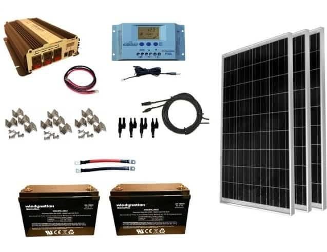 WindyNation Solar Panel Kit WITH Batteries